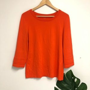marc cain object of love orange 3/4 sleeve top